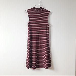 Atmosphere turtleneck sleeveless stripped dress